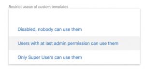 Matomo限制标签管理自定义模板使用