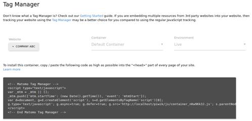 标签管理器追踪代码