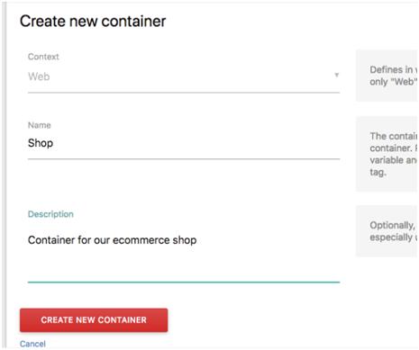 Matomo标签管理器-创建新容器